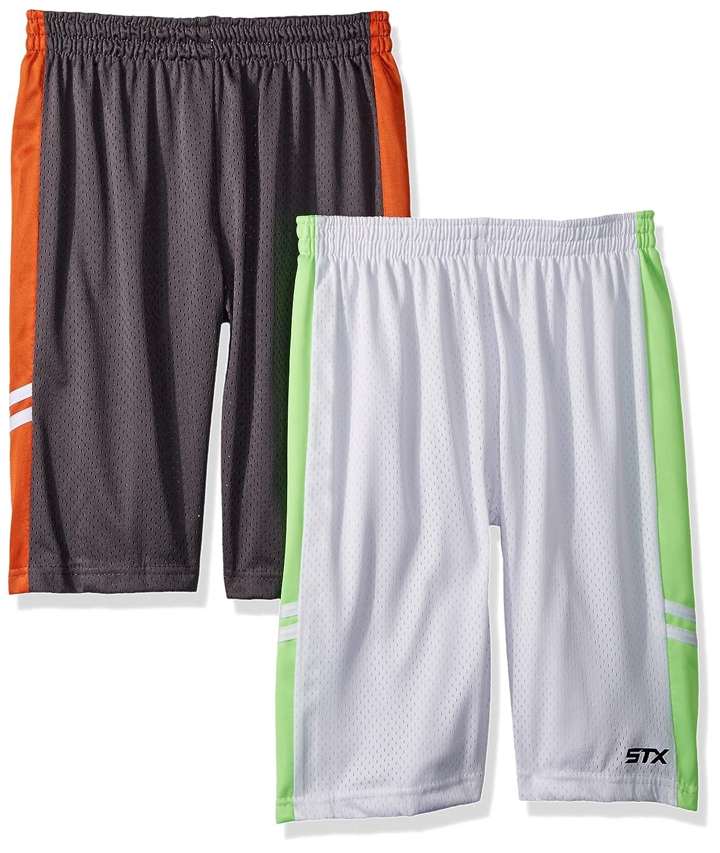 STX Fashion Boys' 2 Pack Performance Athletic Sport Shorts