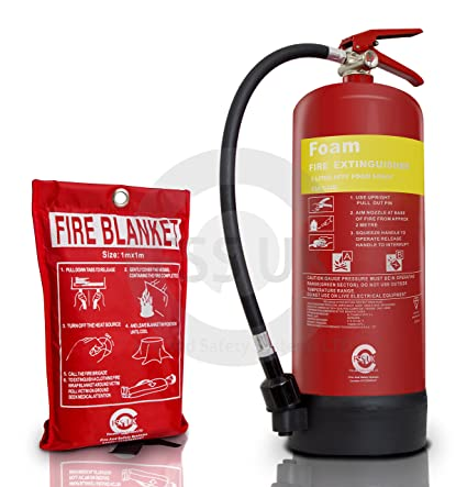 FSS UK Premium 6 litros espuma extintor con manta de fuego. BSI – Protector de