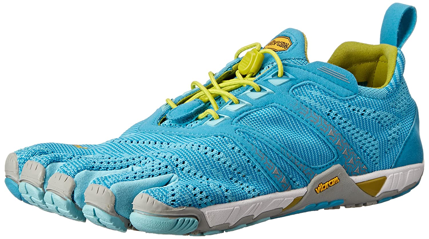 Vibram Women's KMD Evo Cross Training Shoe B00KR4TF6E 38 M EU / 7 B(M) US|Light Blue/Grey/Yellow