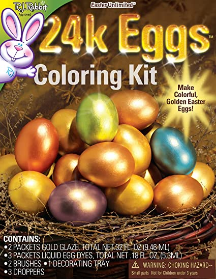 Amazon.com: 24 Karat Easter Egg Coloring Kit: Arts, Crafts & Sewing