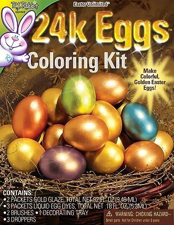 Amazon Com 24 Karat Easter Egg Coloring Kit Arts Crafts Sewing