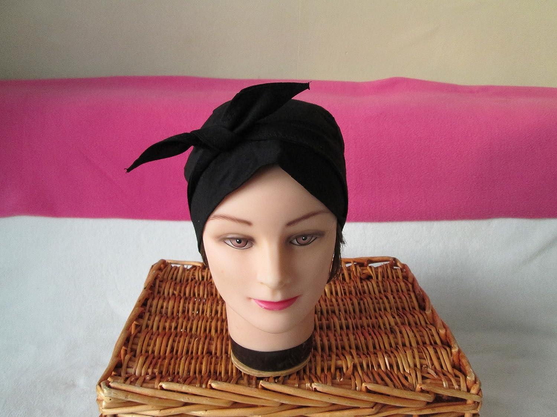 Foulard, turban chimio, bandeau pirate au féminin noir