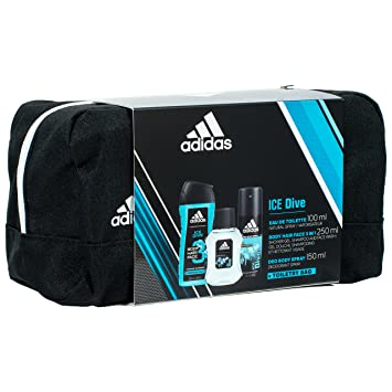 a9da84ebf949 Adidas Ice Dive Set for Men – 100ml Eau de Toilette 150ml Deodorant 250ml  Shower Gel