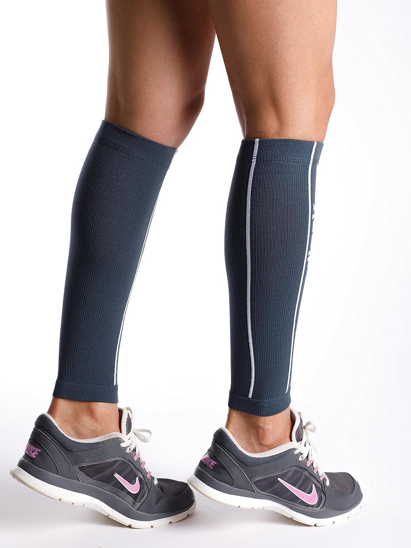 dimok Calcetines de compresión de pierna para pantorrillas que corren (mejor para el dolor muscular de la férula de la espinilla y mejor circulación) S/M - Circunferencia de pantorrilla 12-14 Gris: Amazon.es: