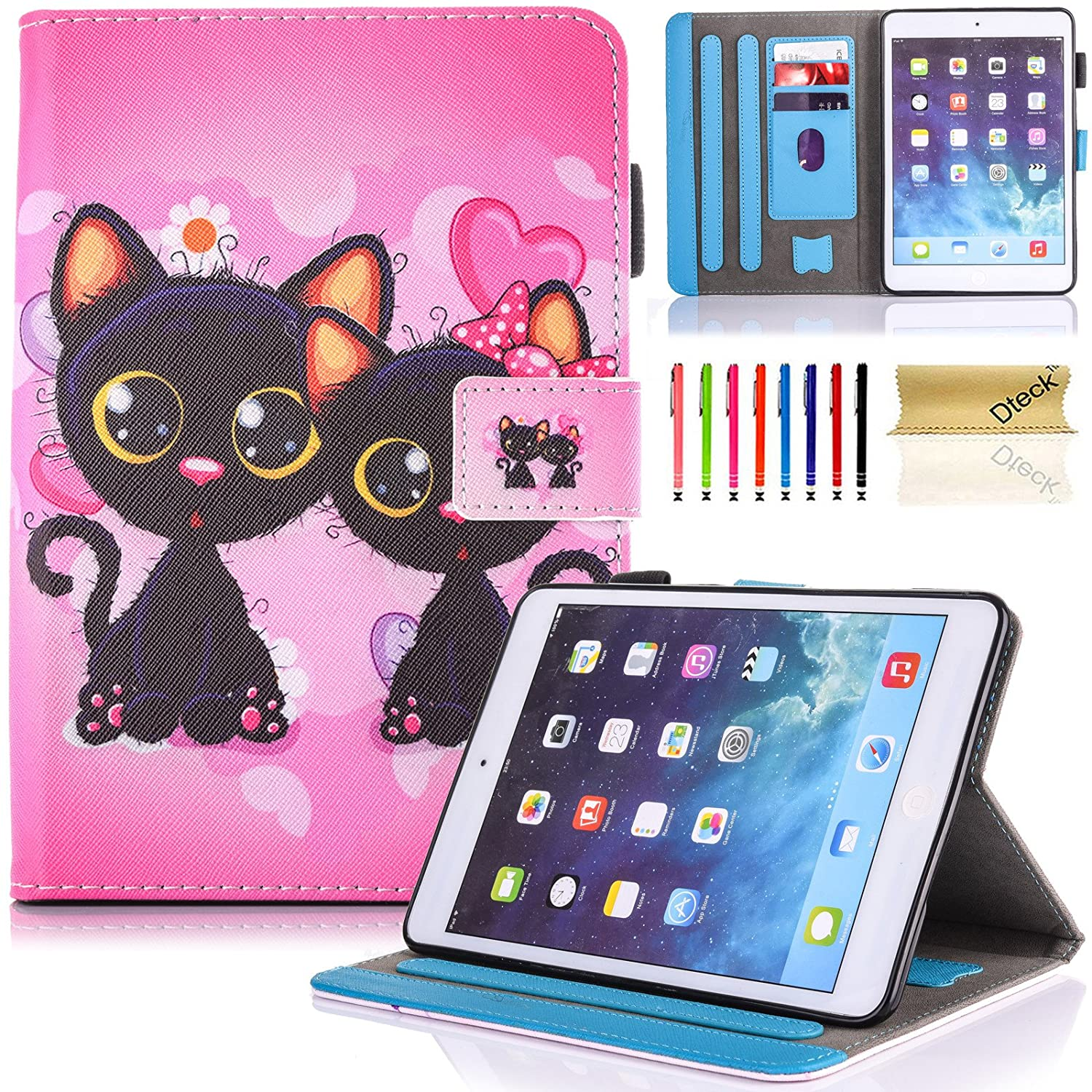 iPad 9.7 inch 2018 2017 Case/iPad Air Case/iPad Air 2 Case, Dteck PU Leather Folio Smart Cover with Auto Sleep Wake Stand Wallet Case for Apple iPad 6th/5th Gen,iPad Air 1/2, Beach Live it iPad568-DK-0901