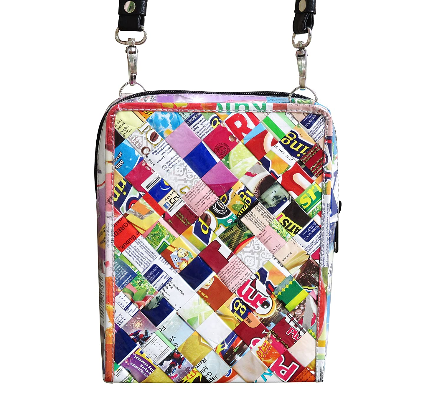 72e057513d Small crossbody using candy wrappers - FREE SHIPPING Fair trade ethical  special fun present presents cute finds inspiring ideas functional bags  handbags ...