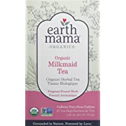 Organic Milkmaid Tea by Earth Mama | Supports Healthy Breastmilk Production and Lactation, Herbal Breastfeeding Tea Supplement, 16 Teabags per Box (3-Pack)