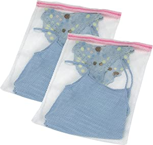 Household Essentials 121-2 Mesh Laundry Wash Bag for Delicates - 2 Pack