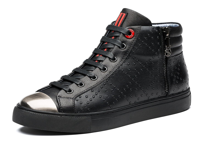 OPP Rindleder Herren Rindleder OPP High-Top Hohe Sneaker Schwarz-2 378446