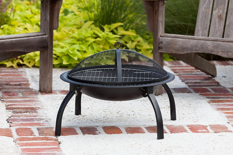amazon com fire sense 22 inch folding fire pit outdoor fire