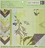 K&Company Brenda Walton Flora & Fauna Designer Paper Pad, 12-by-12-Inch