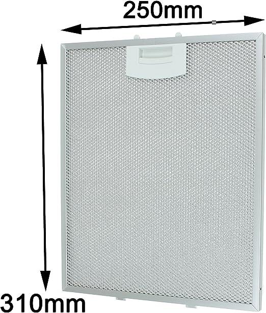 SPARES2GO Vent Extractor Filtro de malla metálica para ventilación de campana Siemens (250 x 310 mm): Amazon.es: Hogar