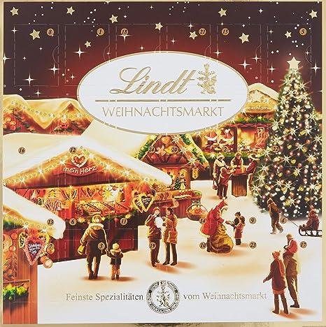 Lindor Weihnachtskalender.Lindt Sprüngli Weihnachtsmarkt Tisch Adventskalender 1er Pack 1 X 115 G