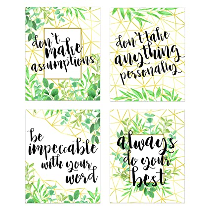Amazon The Four Agreements Don Miguel Ruiz Set Of 4