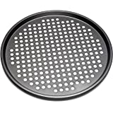 KAIYEE Nonstick Carbon Steel Pizza Tray Pizza Pan with Holes, 13 Inch