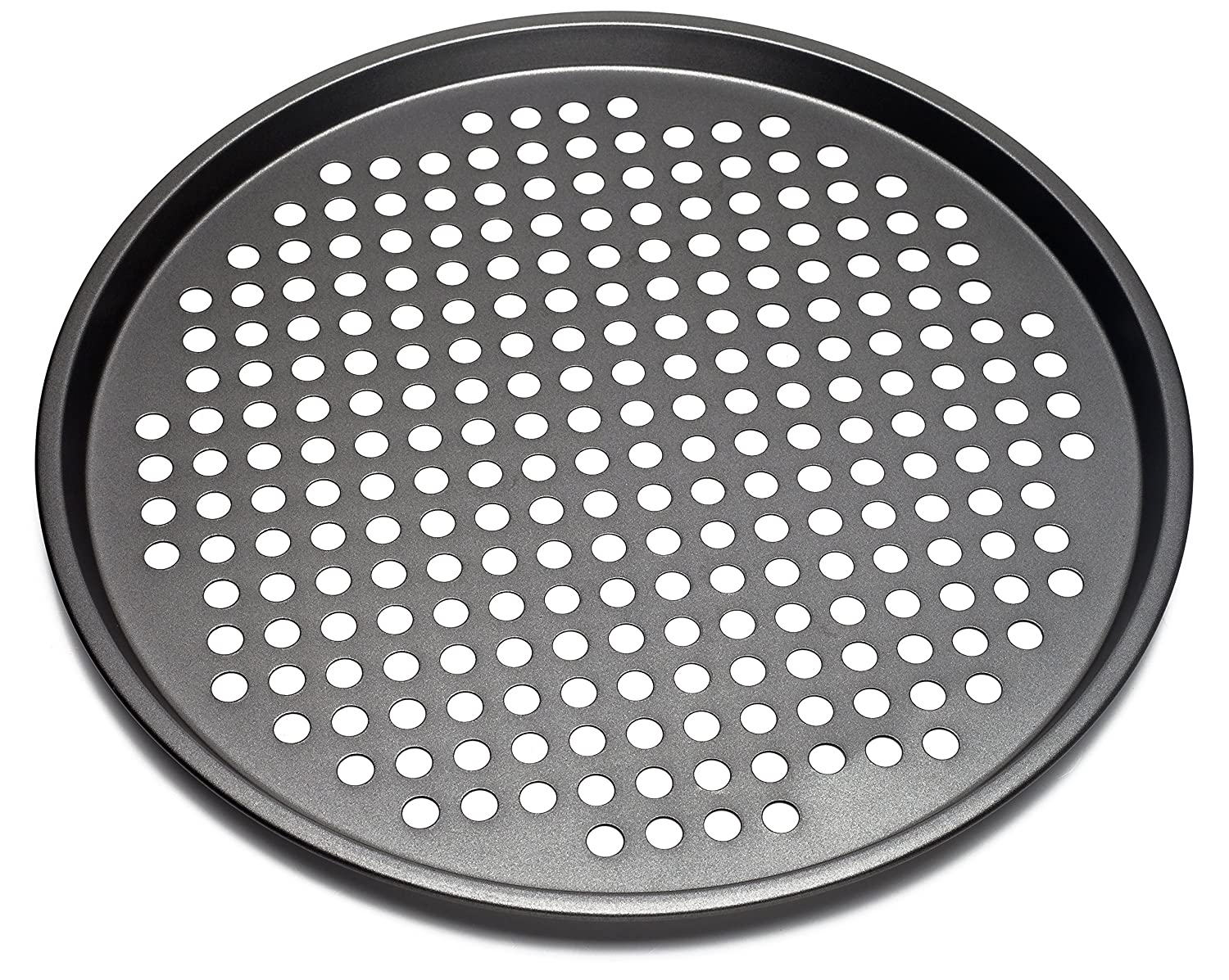 Nonstick Carbon Steel Pizza Tray Pizza Pan with Holes, 13 Inch KAIYEE