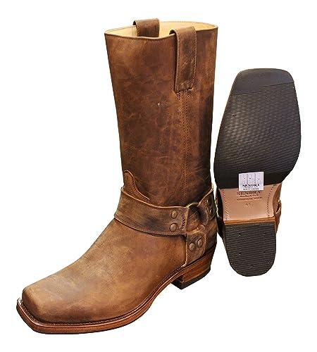 sale retailer 08df8 0cb26 Sendra Cowboystiefel Bikerstiefel Stiefel 8833 in braun incl. Roy Dunn´s  Stiefelknecht, Lederfett und Sendra Tragetasche