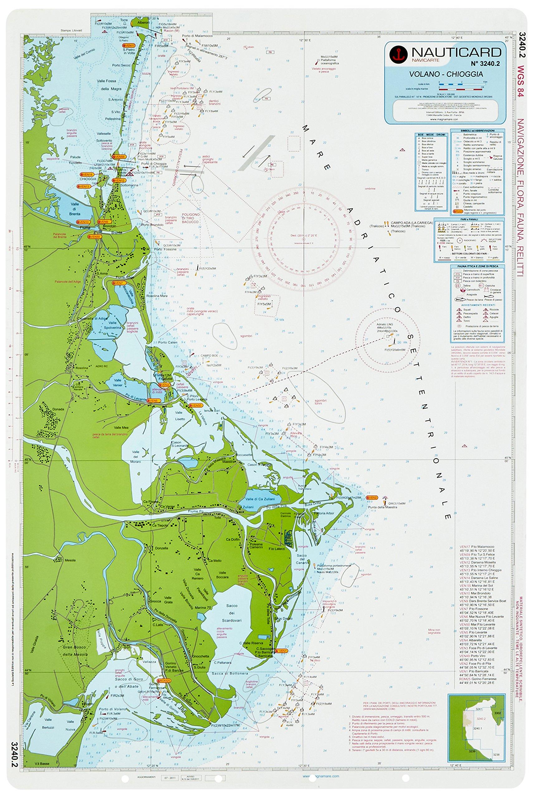 Carta nautica 3240. Da Cervia a Chioggia: Amazon.es: Libros ...