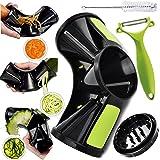Joiedomi Vegetable Tri-Blade Spiralizer Bundle: Spiral Slicer, Vegetable Pasta Maker