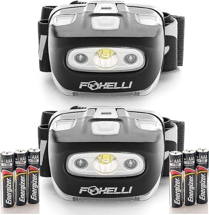 Best headlamp for Hunting: Foxelli Headlamp Flashlight – 165 Lumen
