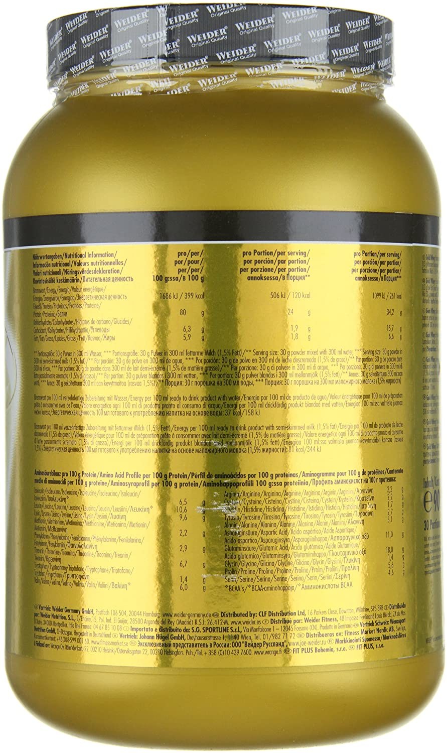 Amazon.com: Weider Stracciatella 908g Gold Whey by Weider: Health & Personal Care