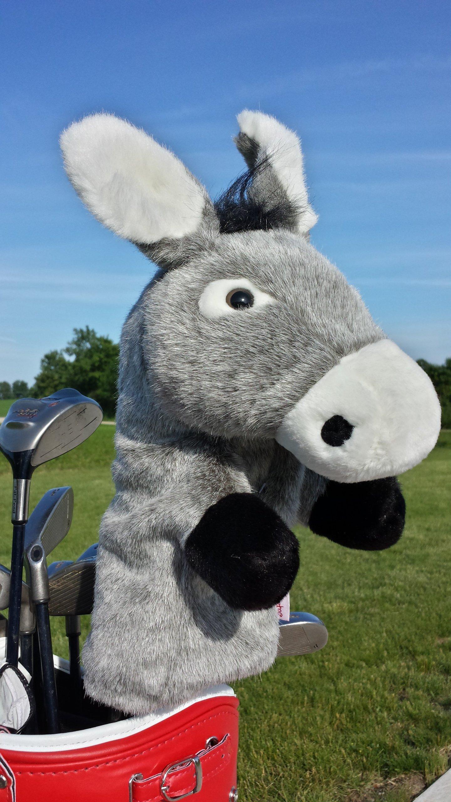 Oversized Eeyore Shrek Donkey Head Cover Golf