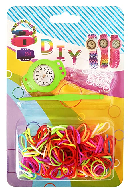 Amazon Com Rubber Loom Band Watch Diy Loom Watch Kit Arts And