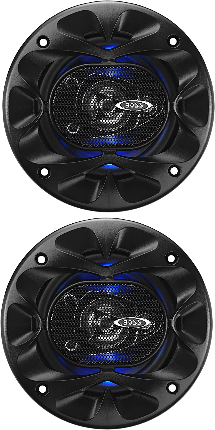 BOSS Audio Systems BE423 4 Inch Car Speakers - 225 Watts of Power Per Pair, 112.5 Watts Each, Full Range, 3 Way, Sold in Pairs