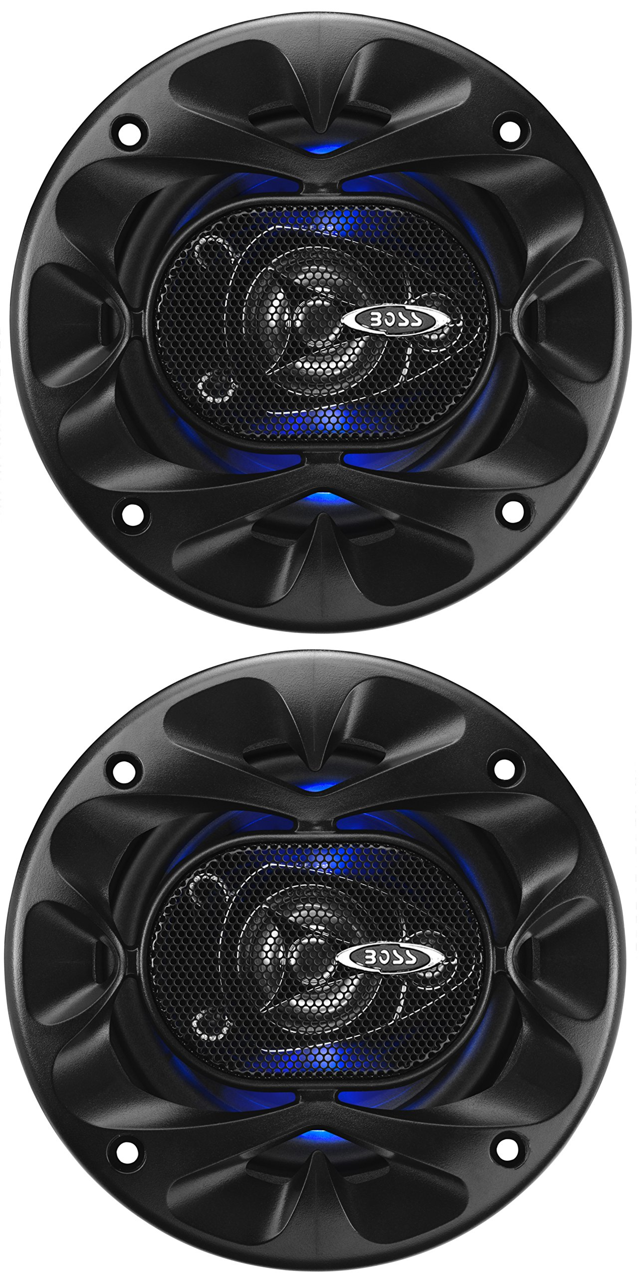 Boss Audio Systems BE423 225 Watt Per Pair, 4 Inch, Full Range, 3 Way Car Speakers Sold in Pairs