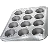 USA Pan Bakeware Cupcake and Muffin Pan, Nonstick Quick Release Coating, 12-Well, Aluminized Steel