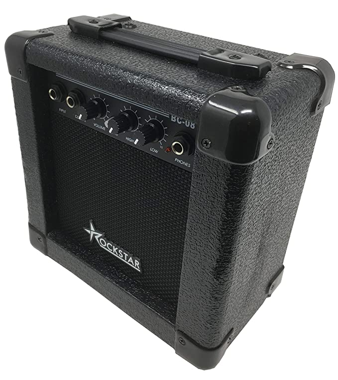 Amplificador combo para guitarra electrica ROCKSTAR BC08 con 10W de rockmusic: Amazon.es: Instrumentos musicales