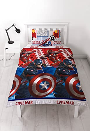 Captain America Vs Iron Man Bürgerkrieg Single Bettwäsche Set