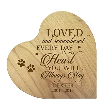 LifeSong Milestones Personalized Wood Maple Dog Cat Horse Pet Memorial  Heart Block Quotes Custom Engraved Sympathy Gift Ideas for Loss of pet  Memorial ...