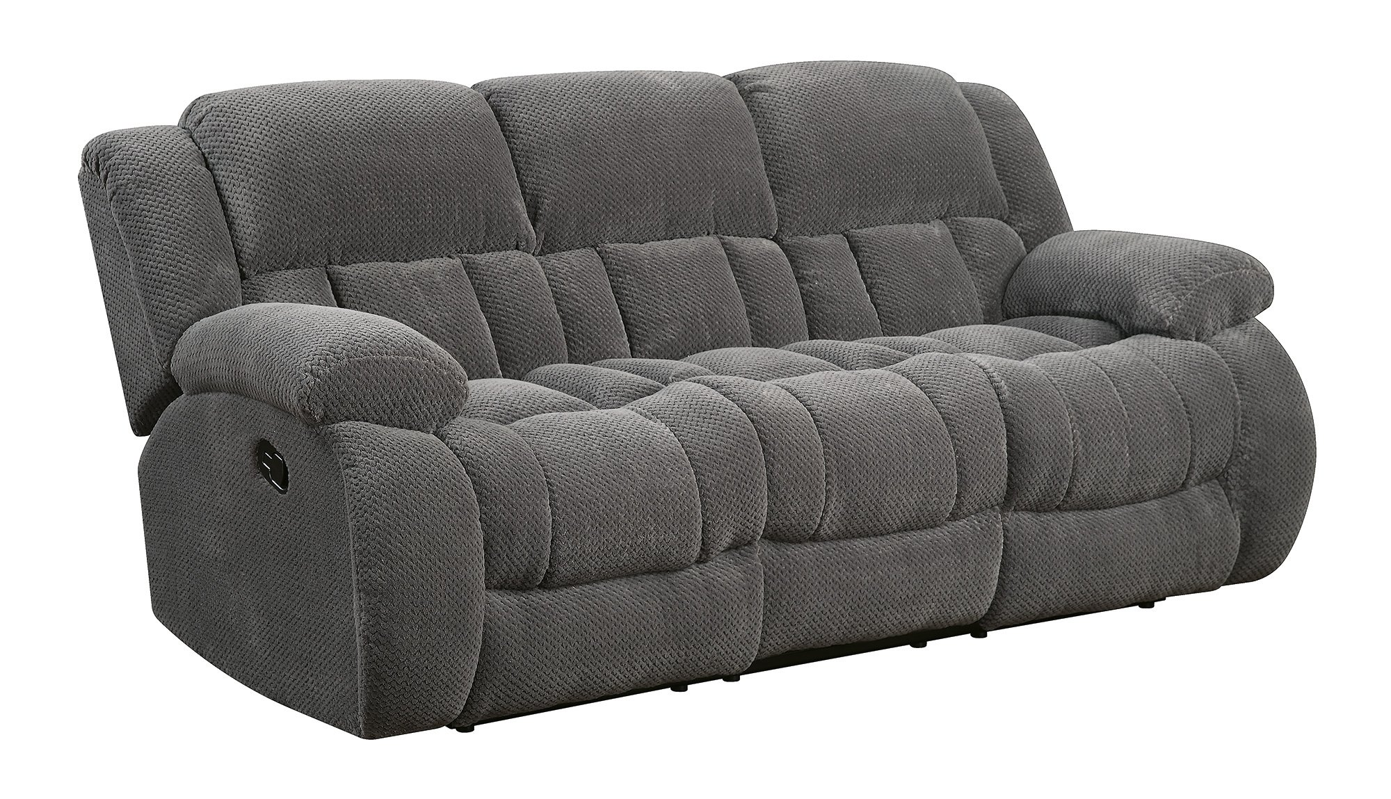 Coaster Home Furnishings 601921 Weissman Motion Collection Motion Sofa, Charcoal