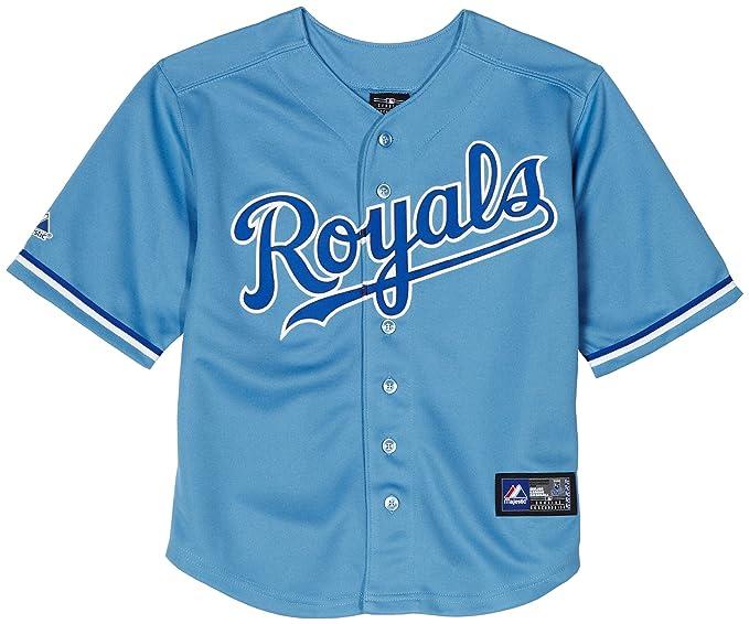buy popular c239c 29834 Amazon.com : MLB Boys' Kansas City Royals Button Down Jersey ...