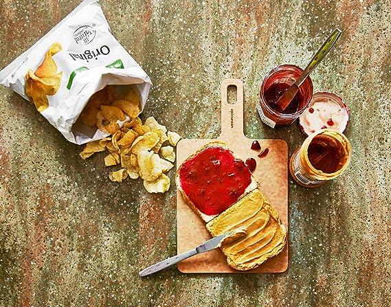 Epicurean 008-090701 Tabla con Mango, Madera y Resina Reciclado, Crema, 17.8 cm, 4 Unidades: Amazon.es: Hogar