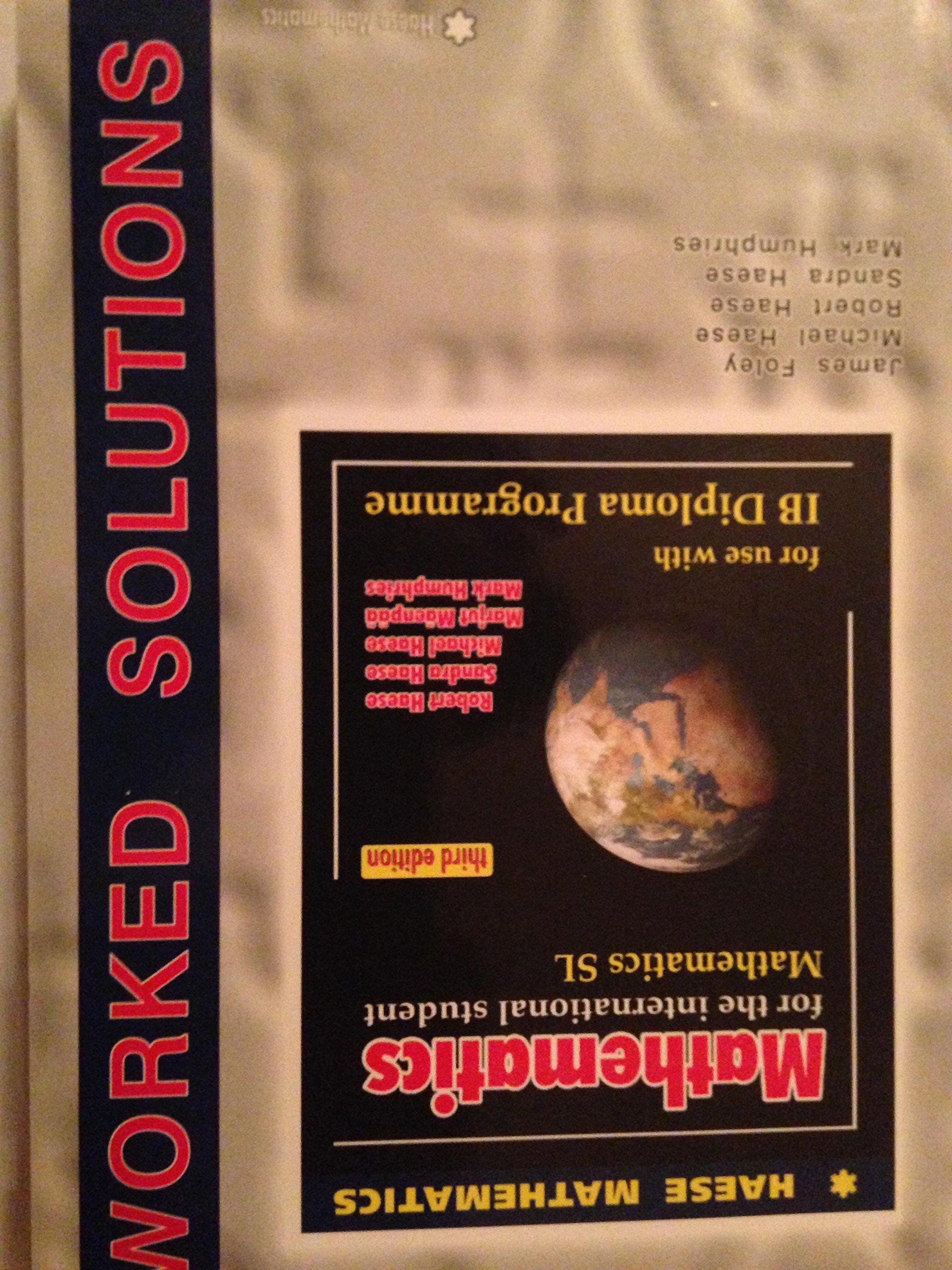 Mathematics SL Worked Solutions (3rd Edition): 9781921972096: Amazon.com:  Books