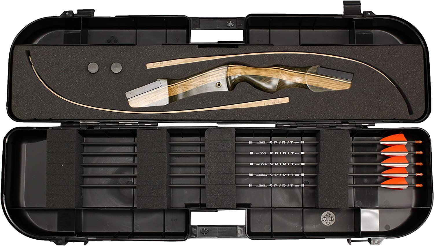 Southland Archery Supply SAS Travel Approved Hard Bow Case for Takedown Bows and Arrows Made in USA