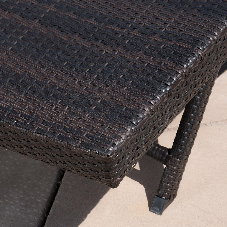 Amazon.com : Eliana Outdoor Brown Wicker Chaise Lounge Chairs (Set Of 2) :  Garden U0026 Outdoor