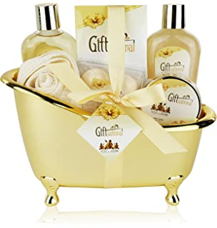 Amazon.com : Spa Gift Basket with Sensual Lavender Fragrance ...