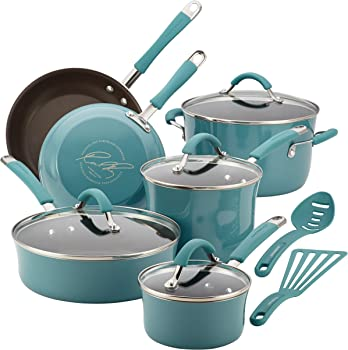 Rachael Ray Agave Blue Nonstick Cookware Sets