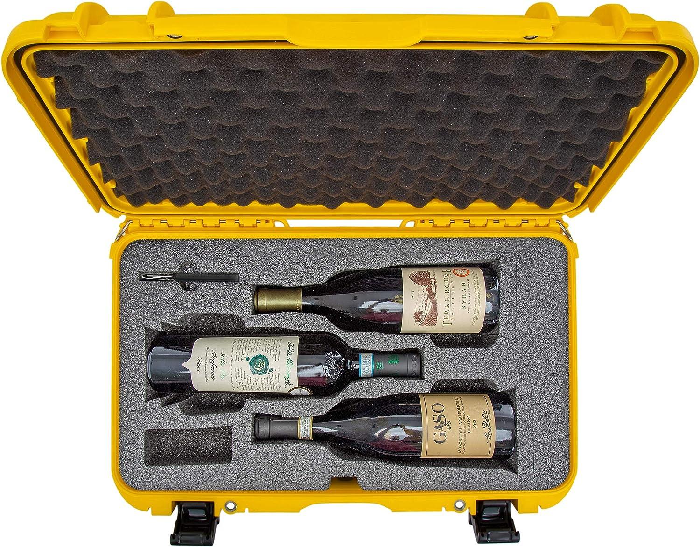 Nanuk 935 Reiseetui Für 3 Flaschen Wein Mit Rollen Und Kamera