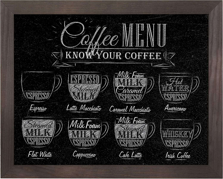 MyGift 15 x 13 Inch Wall Hanging Vintage Dark Brown Wood Framed Chalkboard Sign