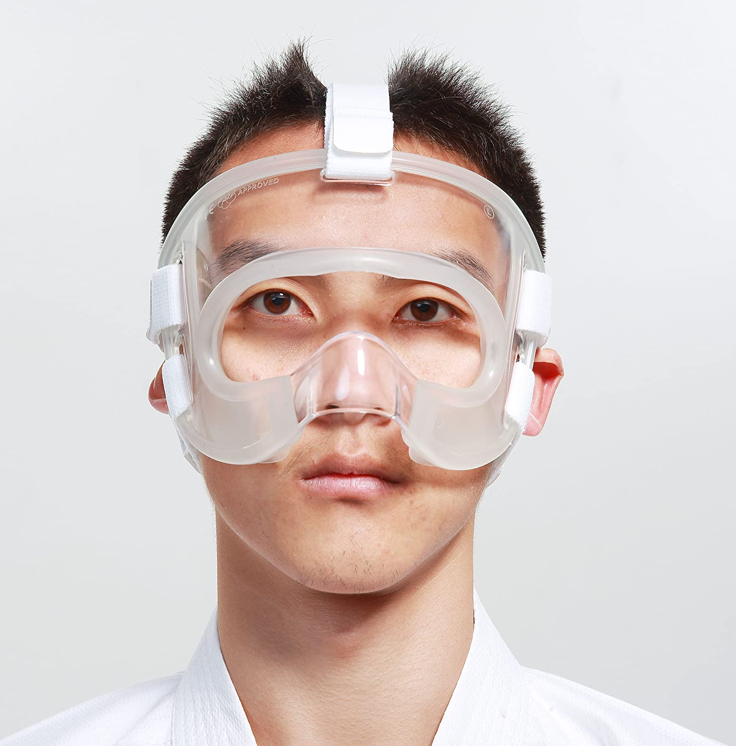 wesing Karate face Shield face Nose Protector with Extra Grip Padding