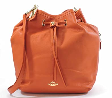 d5727de952 Coach Matte Soft Grain Leather Turnlock Tie Bucket Bag