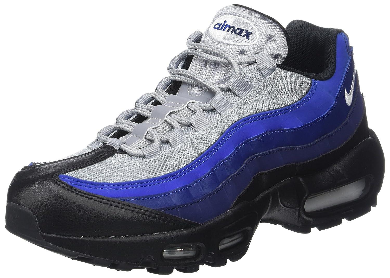 Nike Herren Air Max 95 Essential Sneaker  45 EU|Mehrfarbig (Black/White-binary Blue-deep Royal-game)