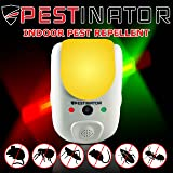 Pestinator Dual Ultrasonic & Electromagnetic Pest Repeller | Home Indoor Insect, Rodent, Bug Repellent | Child Safe, Cruelty Free | Repel Rats, Mice, Roaches, Mosquitos, Ants, Spiders