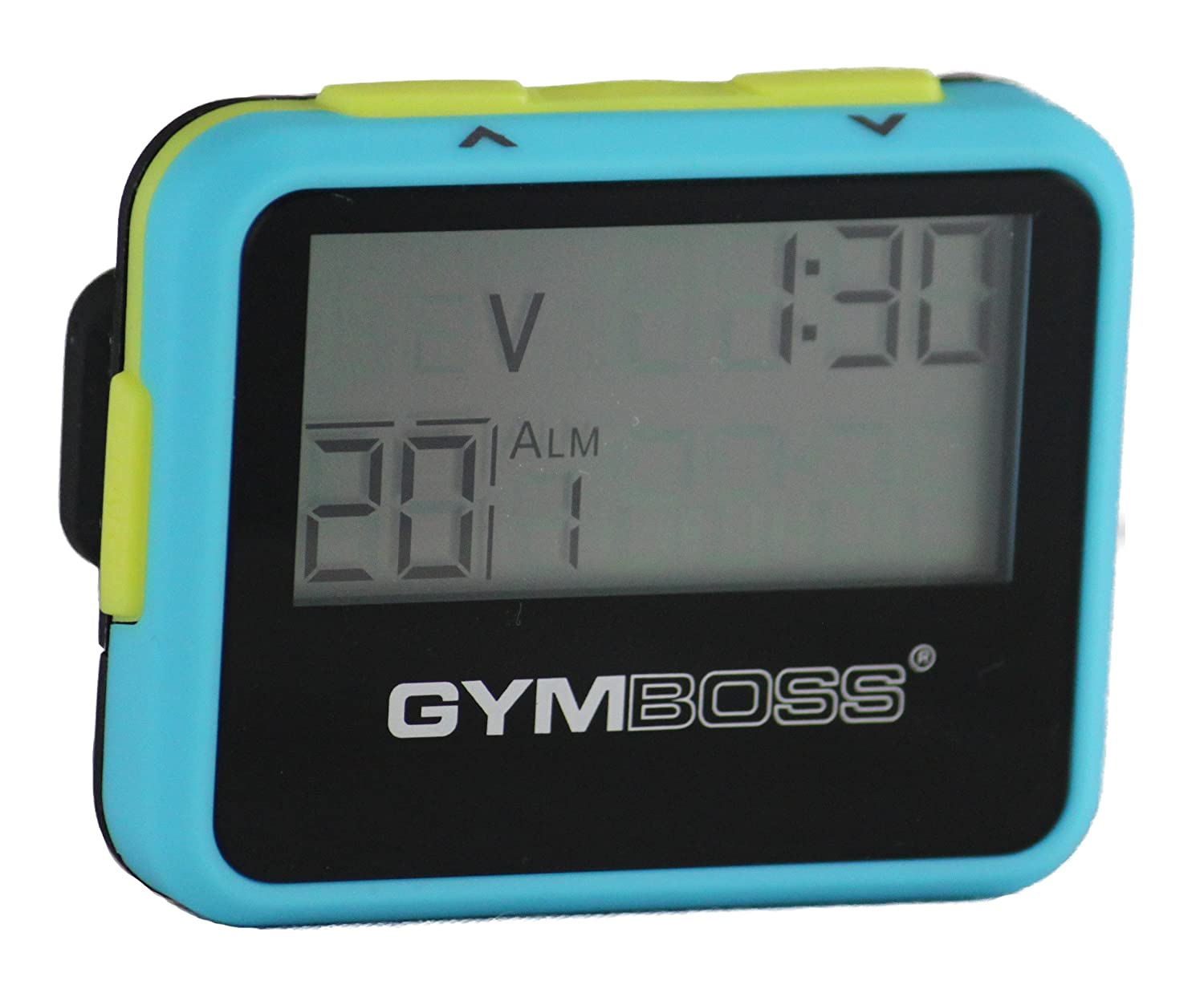 Gymboss Interval Timer and Stopwatch - LIGHT BLUE / YELLOW SOFTCOAT LTBLUYL