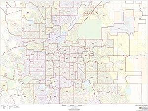 Centennial Colorado Zip Code Map.Amazon Com Colorado Zip Code Map 36 W X 36 H Office Products