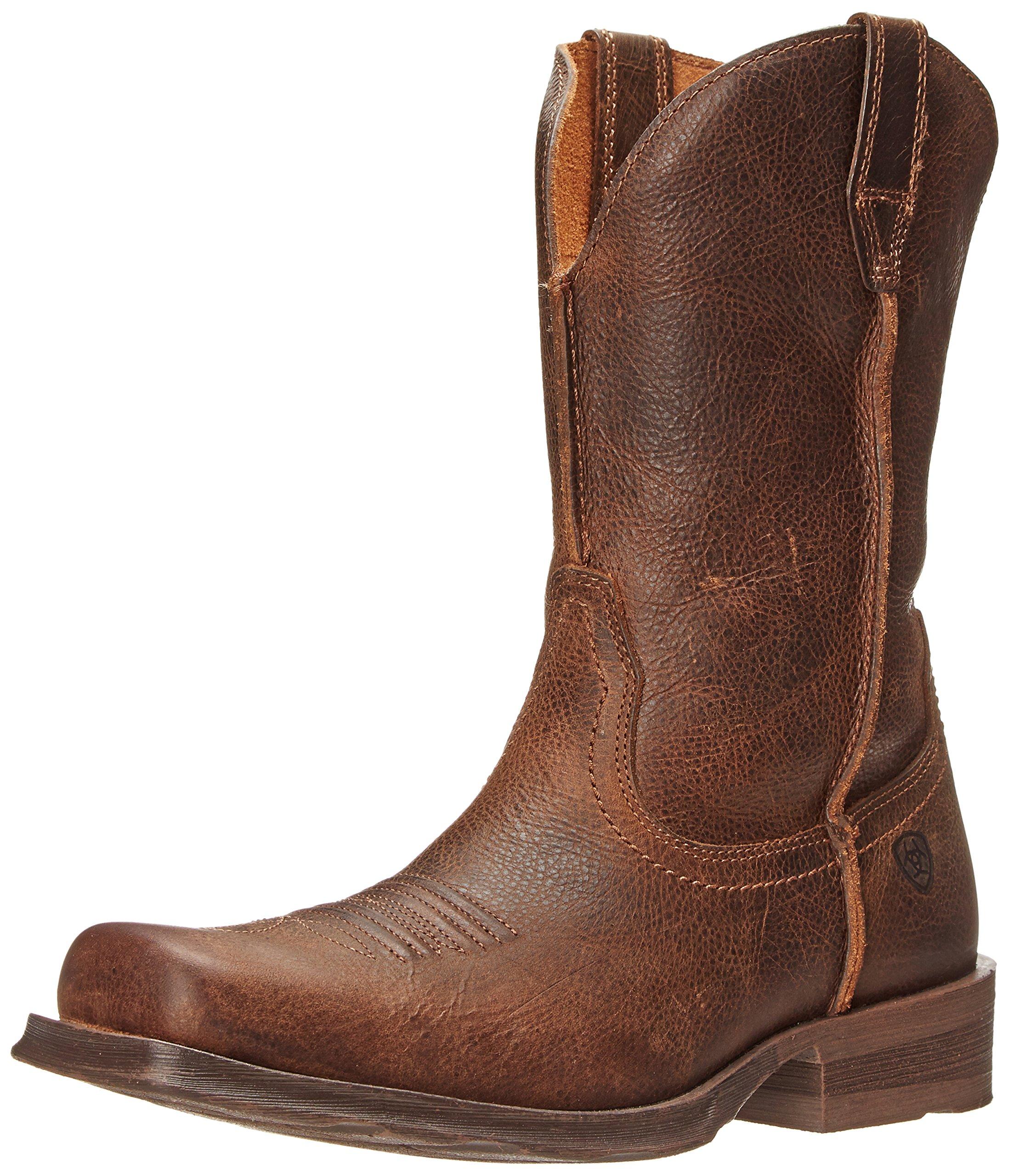 Ariat Men's Rambler Wide Square Toe Western Cowboy Boot, Wicker, 13 2E US